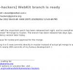 Printout from WebKit-based Evolution