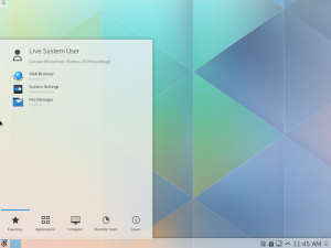 Fedora 20 running KDE Plasma 5