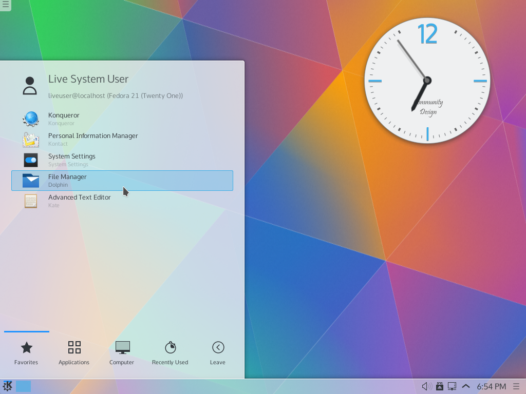 Fedora 21 with Plasma 5.2 beta